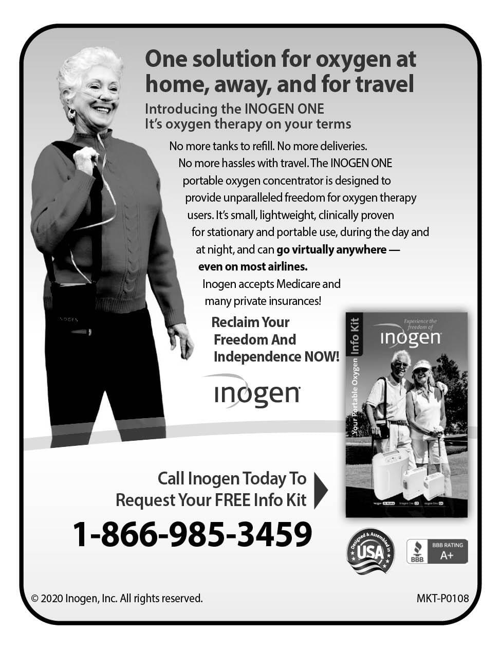 Inogen Oxygen Ad in Coffee News