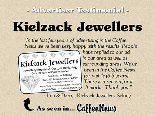 Kielzack Jewellers testimonial in Coffee News