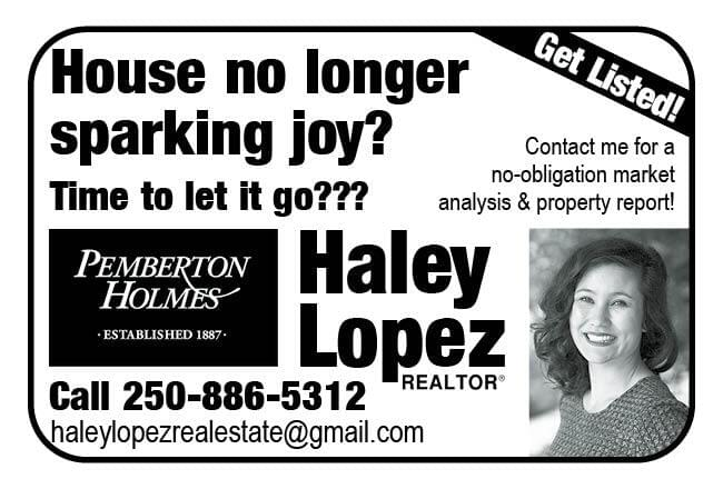 Haley Lopez Realtor Ad in Coffee News