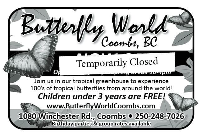 Butterfly World Ad in Coffee News