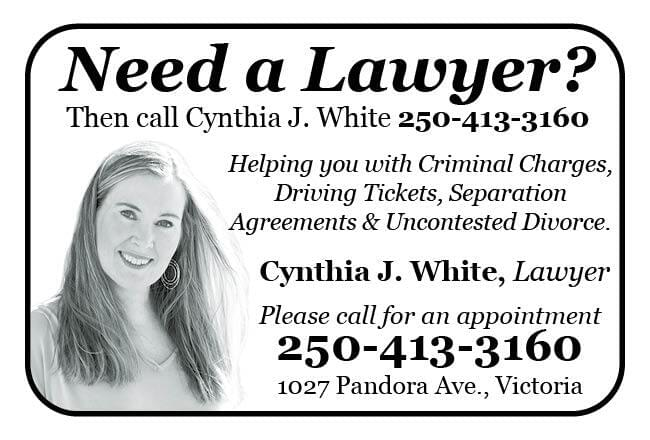 Cynthia J White Lawyer Ad in Coffee News
