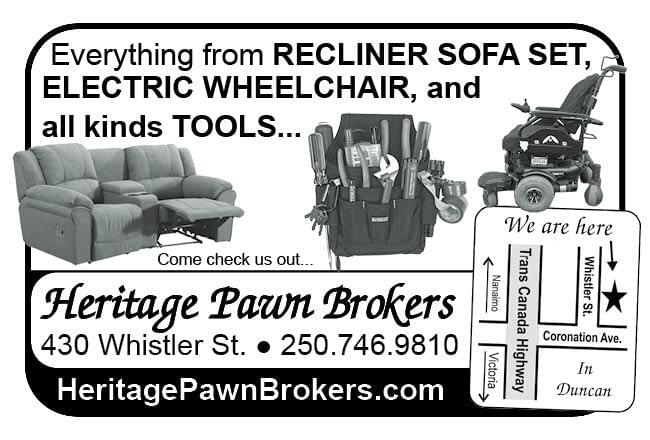 Heritage Pawn Brokers Ad in Coffee News