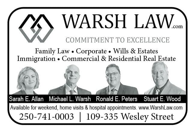 Warsh Law Ad in Coffee News