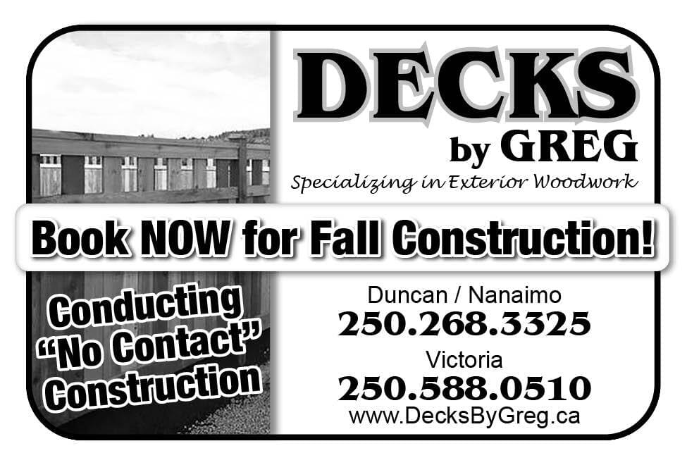Decks by Greg Ad in Coffee News