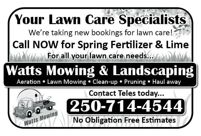 Watts Mowing Ad in Coffee News