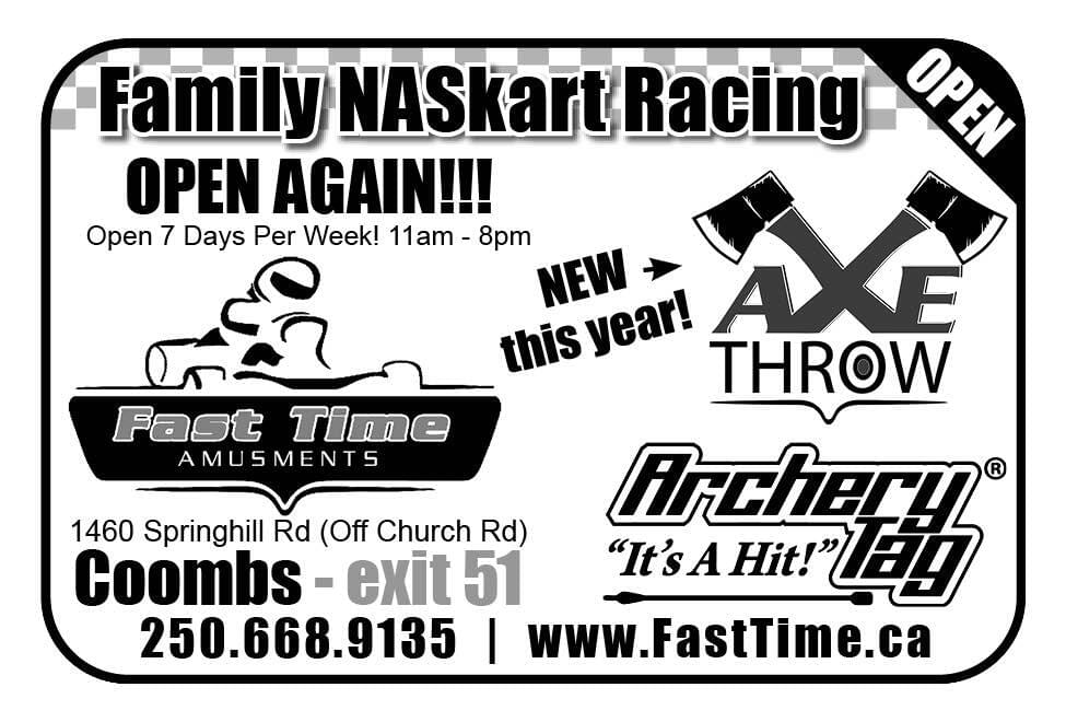 Fast Time Amusements Ad in Coffee News