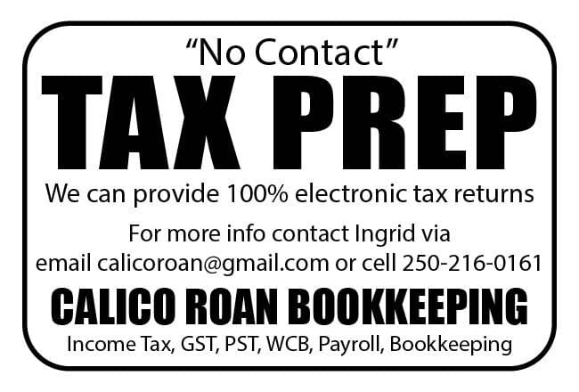 CALICO ROAN BOOKKEEPING Ad in Coffee News