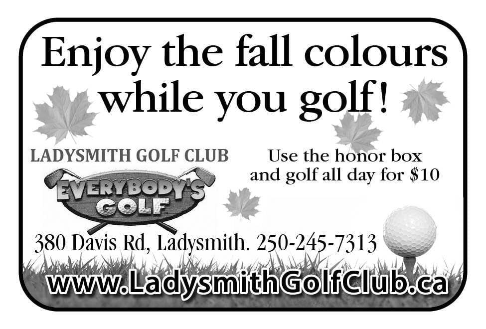 Ladysmith Golf Club Ad in Coffee News