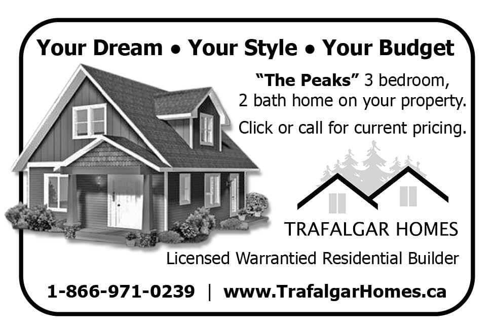 Trafalgar Homes Ad in Coffee News