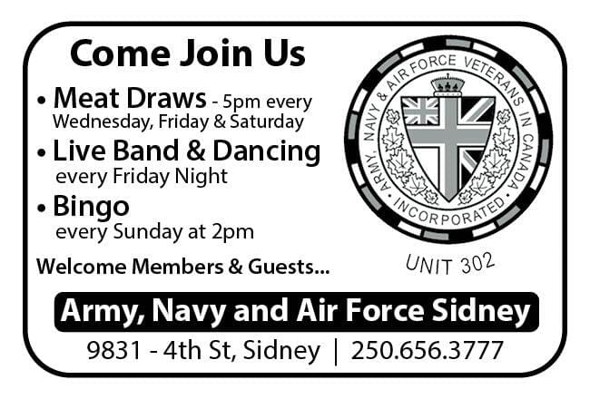 Army Navy Air Force Sidney Ad in Coffee News