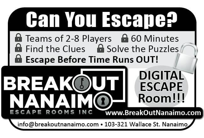 Breakout Nanaimo Ad in Coffee News
