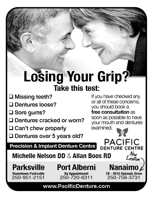 Pacific Denture Centre Ad in Coffee News