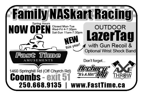 Fast Time Amusement Ad in Coffee News