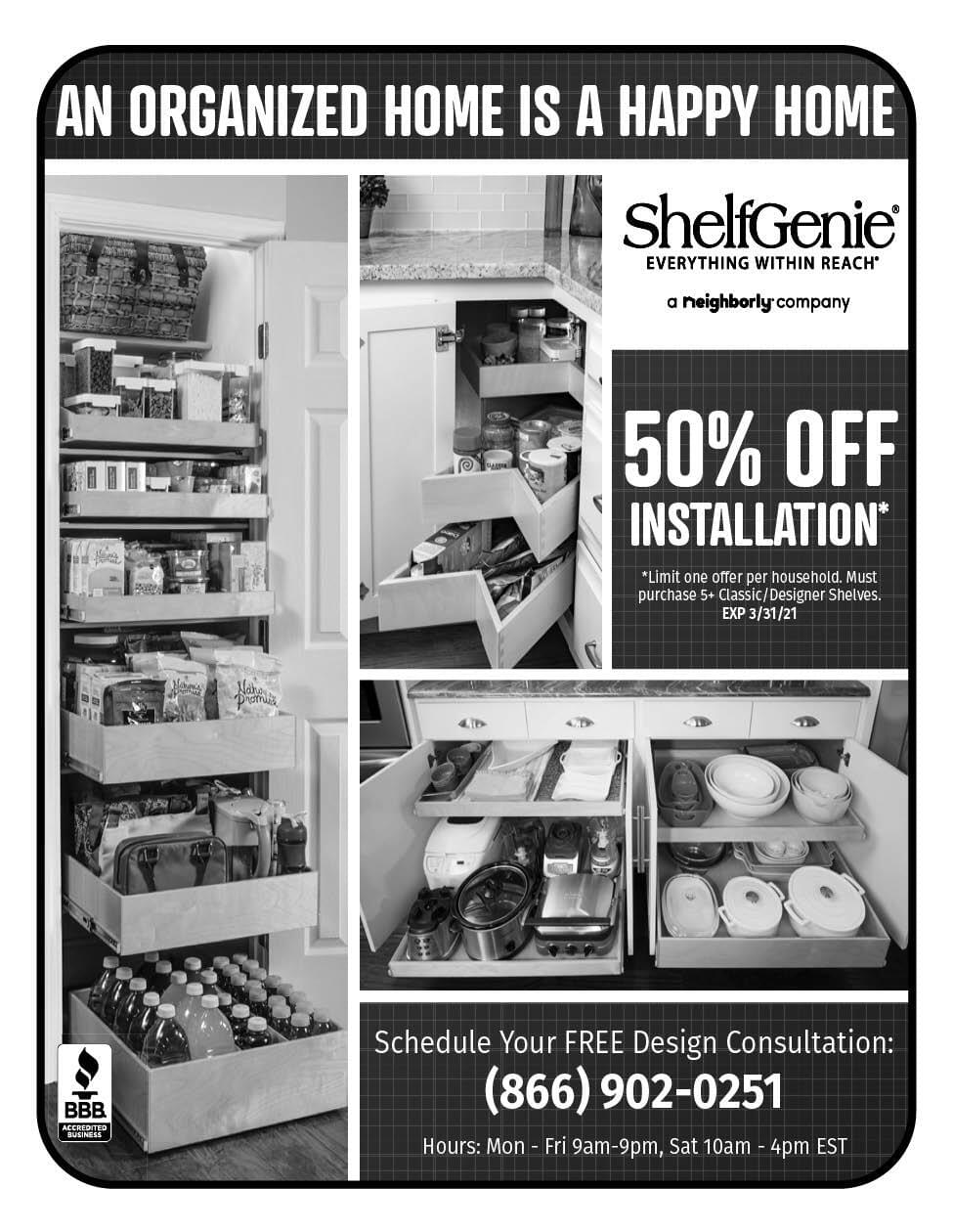 Shelf Genie Ad in Coffee News