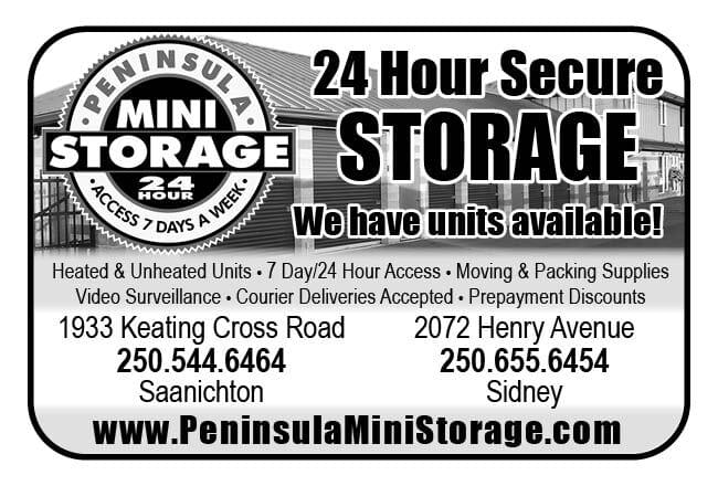 Peninsula Mini Storage Ad in Coffee News