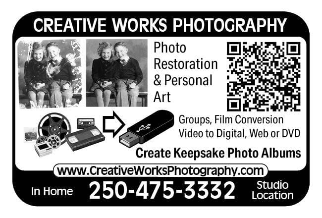 Creative Works Photography Ad in Coffee News