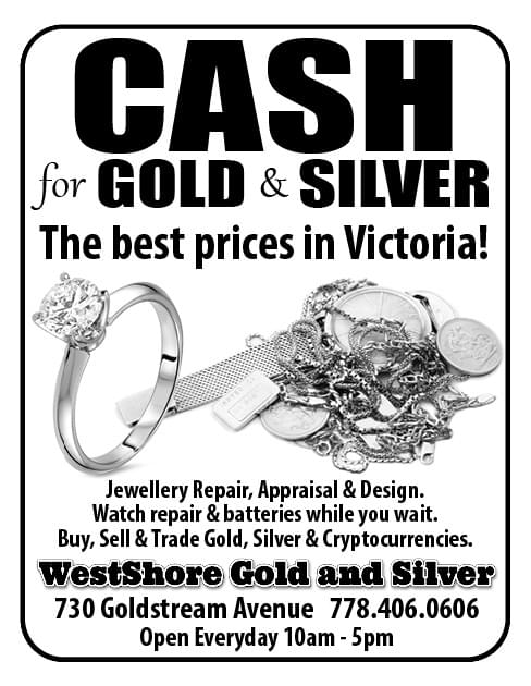 WestShore Gold & Silver Ad in Coffee News