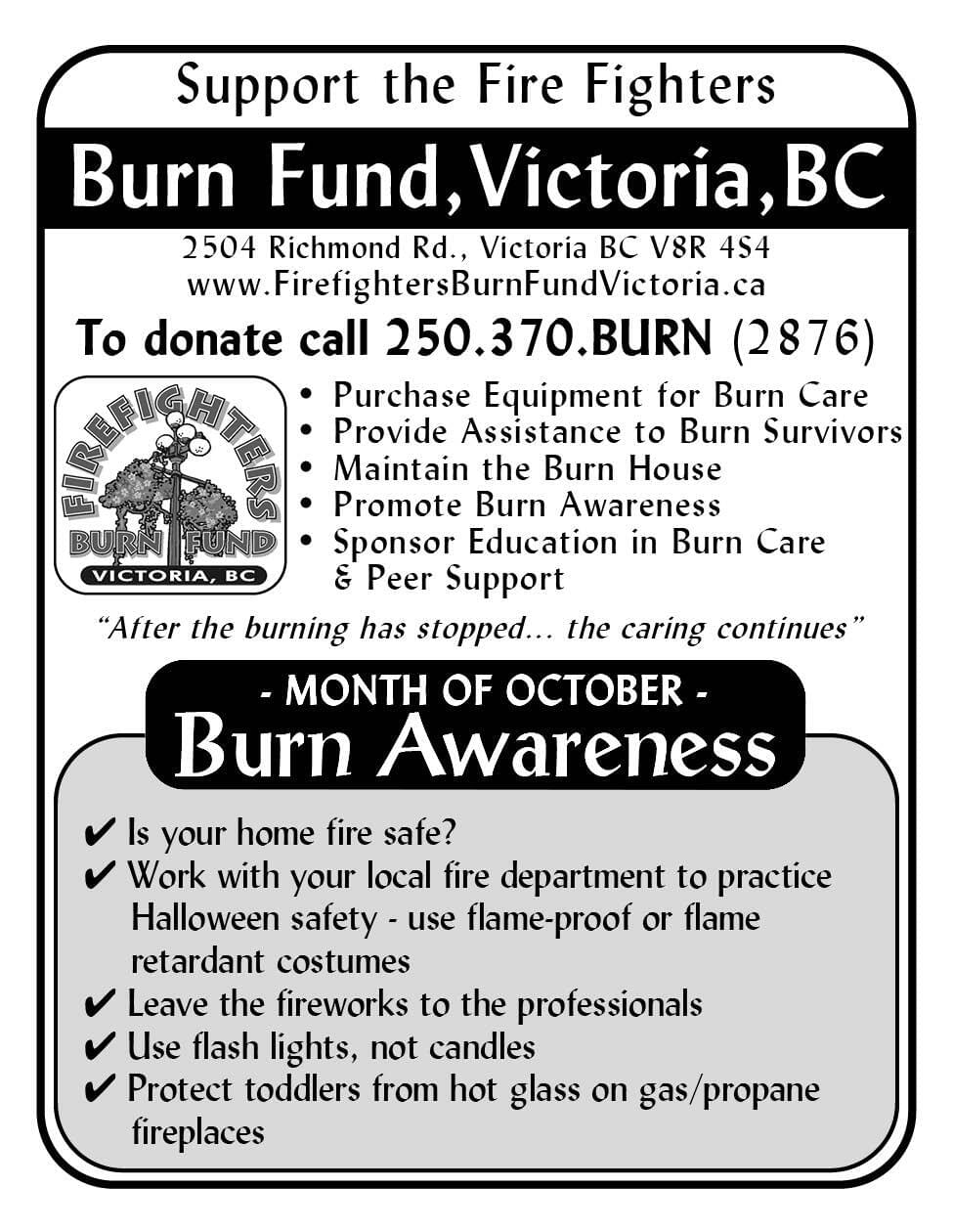 Firefighters Burn Fund Victoria Ad in Coffee News