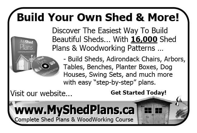 MyShedPlans Ad in Coffee News